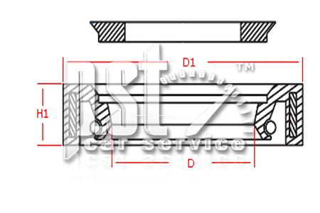 Сальник 25x37.64x6.2 PSS522819. Сальники высокого давления